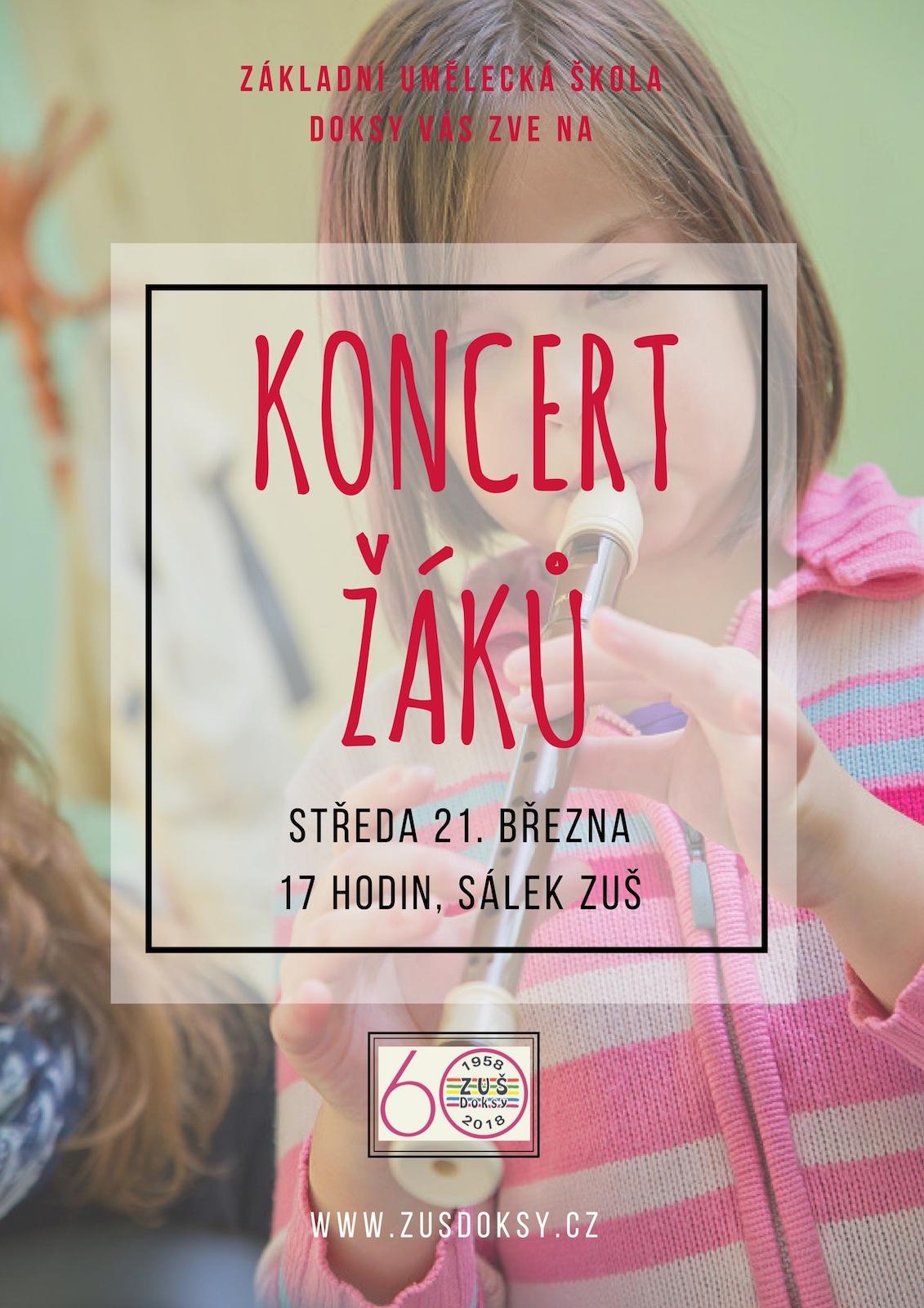 Pozvánka na koncert žáků