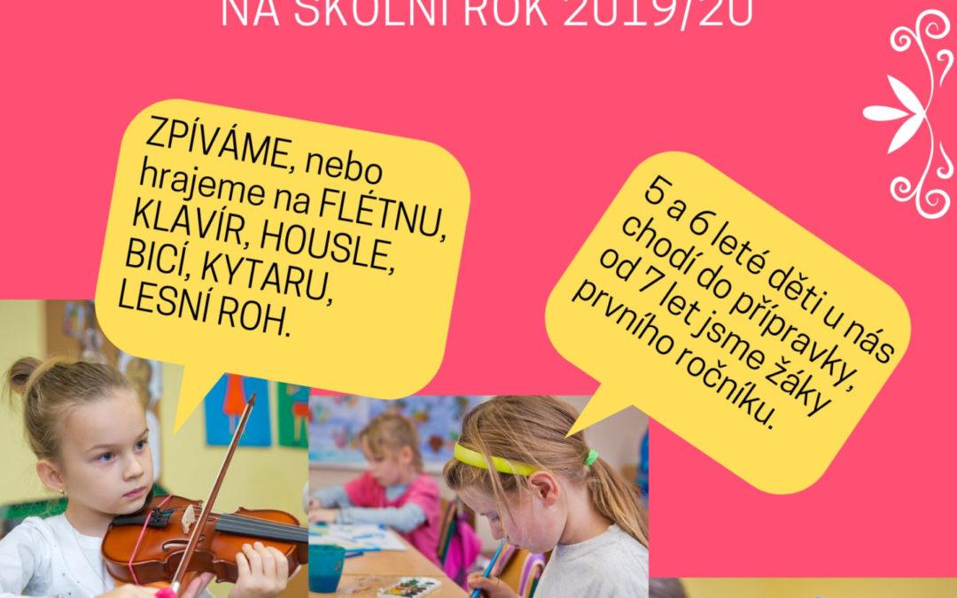 Přijímáme žáky na školní rok 2019/20