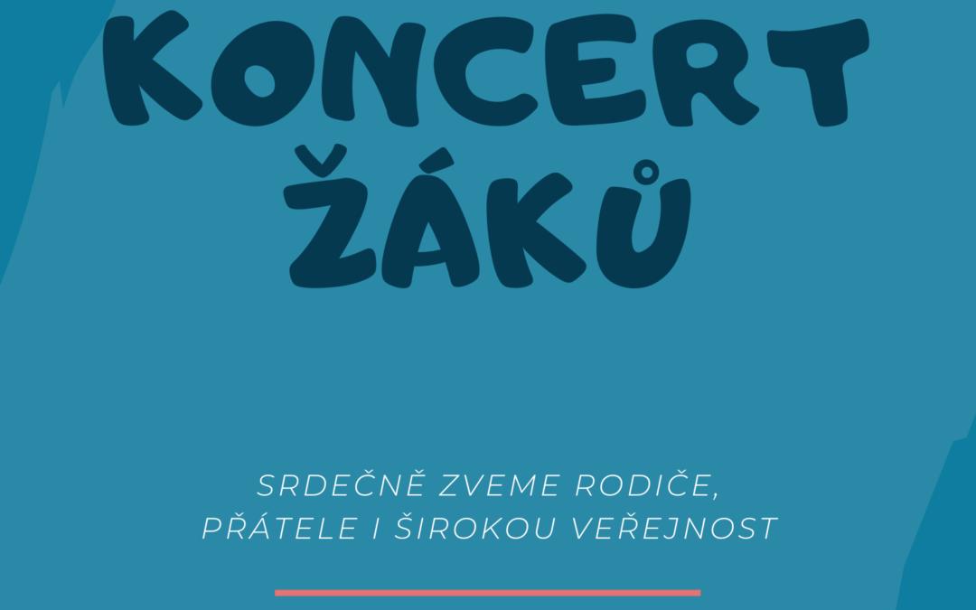 Koncert žáků – akce zrušena